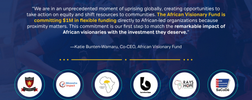 Our First $1M USD Commitment to Six African Visionaries!